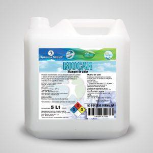 Shampoo para vehículos alta espuma BIOCAR Bidón 5 Litros