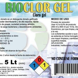 Cloro gel BIOCLOR-GEL Bidón 5 Litros