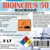 Destapador de cañerías BIOINCRUS-AL Bidón 5 Litros El destapador es usado en cañerías de pvc, acero inoxidable en cocinas, baños o piscinas que contengan materia orgánica o pelos