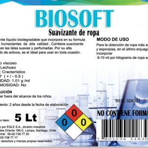 Suavizante de ropa BIOSOFT Bidón 5 Litros