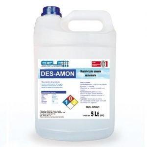 Desinfectante Cuaternario concentrado,  DESAMON Bidón 5 Litros