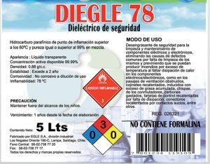 DIELÉCTRICO DE SEGURIDAD DIEGLE 78 5 LITROS DE QUIMICA NOBEL