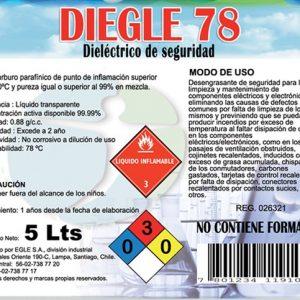 Dieléctrico Desengrasante de seguridad, DIEGLE-78 Bidón 5 Litros