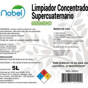 Limpiador de superficies y Amonios Cuaternarios , GERM-END Bidón 5 Litros
