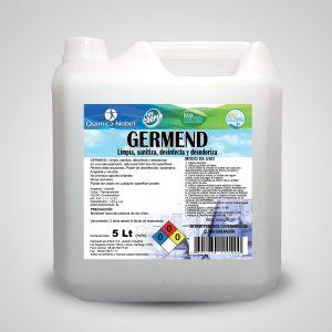 Limpiador y sanitizante de superficies, GERM-END Bidón 5 Litros