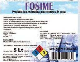 Detergente enzimático para trampas de grasa FOSIME Bidón 5 Litros