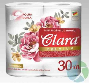 Pack x 4 Papel higienico Clara Premium 30 mt doble hoja 2