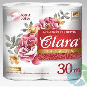 Pack x 4 Papel higienico Clara Premium 30 mt doble hoja