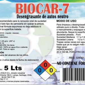 Desengrasante de vehículos BIOCAR-7