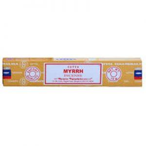 INCIENSO SATYA MYRRH (caja x 10)