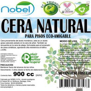 CERA NATURAL PARA PISOS ECOLÓGICA 900 cc