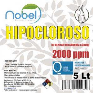 ÁCIDO HIPOCLOROSO ESTABILIZADO BIDÓN de 5 LITROS USO INDUSTRIAL