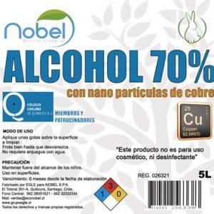Alcohol desnaturalizado al 70% industrial con nano partículas de cobre 1 litro