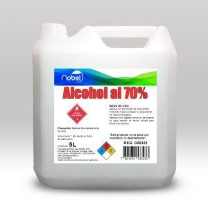 Alcohol Desnaturalizado al 70% 5 litros higienizante