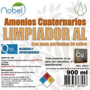Amonios Cuaternarios con nano partículas de cobre USO INDUSTRIAL 900 cc