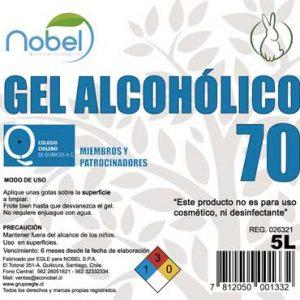 Gel Alcohólico para limpieza industrial 5 litros